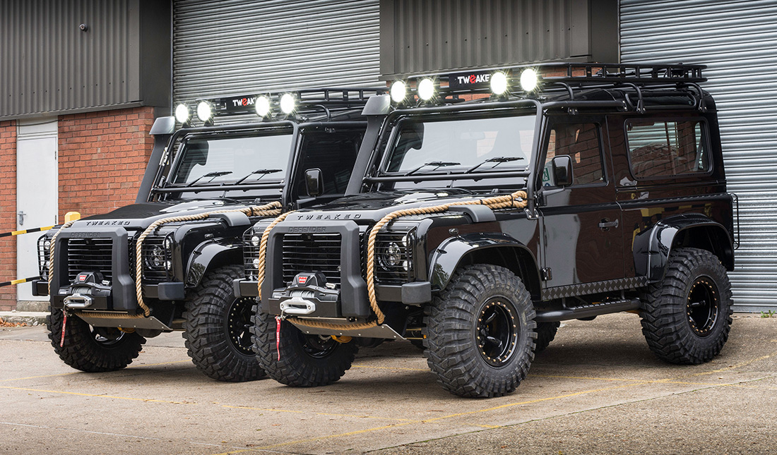 land rover defender spectre edition by tweaked automotive juncture. Black Bedroom Furniture Sets. Home Design Ideas